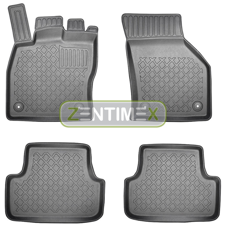 Z330987 SET Kofferraumwanne Gummifußmatten für Seat Leon ST X-Perience 3 5F Komb