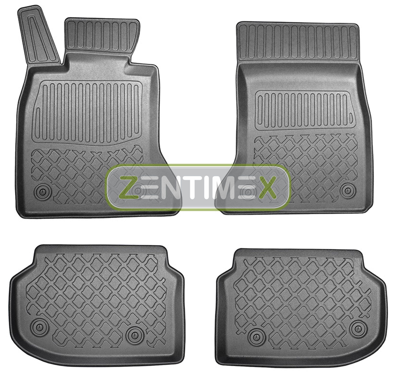 Z330170 SET Kofferraumwanne Gummifußmatten für BMW 5er Benzin F11 Vor-Facelift T