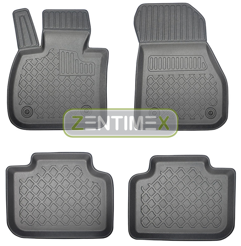 Z330210 SET Kofferraumwanne Gummifußmatten für BMW X1 xLine F48 Steilheck Geländ