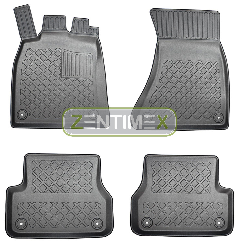 Z330087 SET Kofferraumwanne Gummifußmatten für Audi A7 Sportback C7 4G Vor-Facel