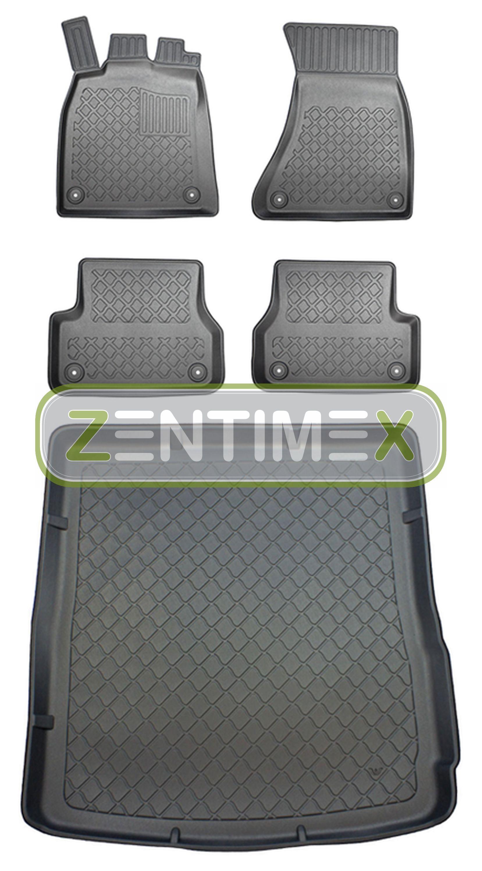 Z330077 SET Kofferraumwanne Gummifußmatten für Audi A6 Allroad Quattro C7 4G Vor