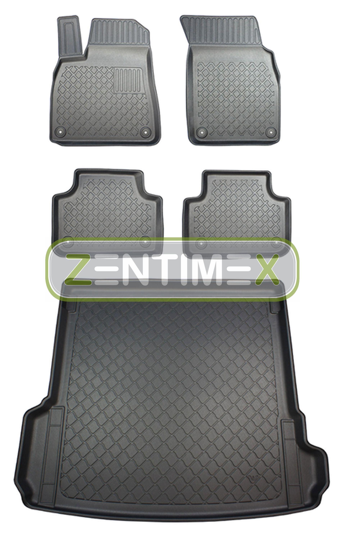 Z330126 SET Kofferraumwanne Gummifußmatten für Audi SQ7 e-tron quattro 2 4M Stei