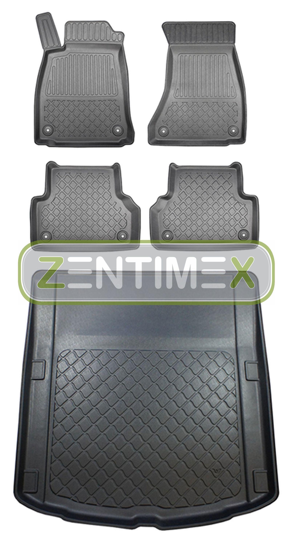 Z330067 set alfombrilla de Tina goma tapices para audi a5 Sport back allradantri 4wd