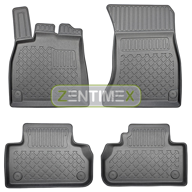 Z330116 SET Kofferraumwanne Gummifußmatten für Audi Q5 S-Line Selection 2 FY Ste