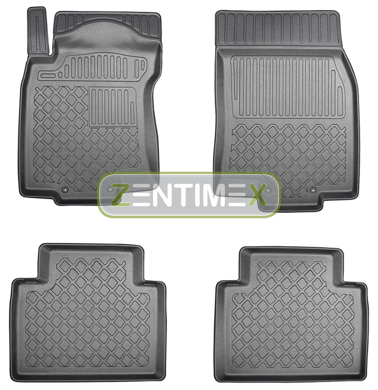 Z330568 SET Kofferraumwanne Gummifußmatten für Nissan X-Trail 3 T32 Facelift Ste