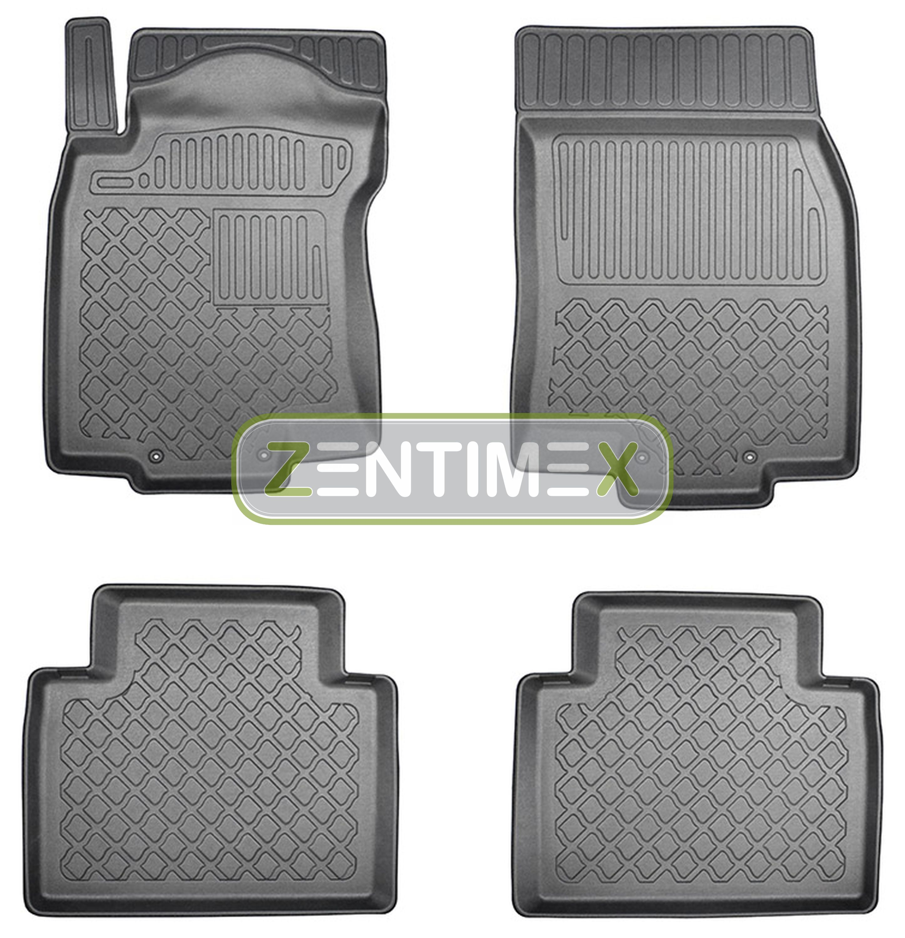 Z330577 Set Tappetino vasca in gomma tappetini per Nissan X-TRAIL ALL-MODE 4x4 allra