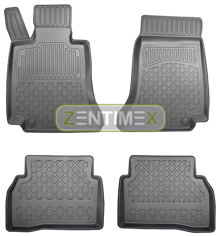 Z330470 SET Kofferraumwanne Gummifußmatten für Mercedes C-Klasse 2WD Hinterradan