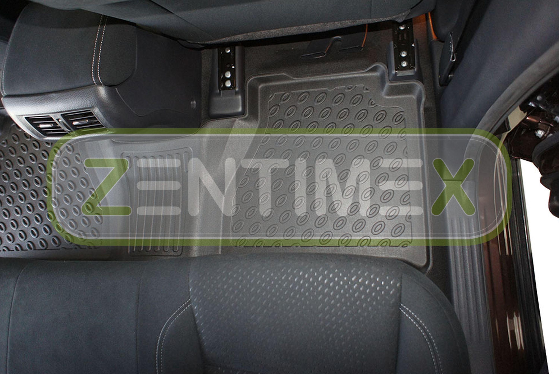 Premium-3D-TPE-Gummifußmatten für Nissan Navara NP300 Pick-Up Double Cab Doppel2