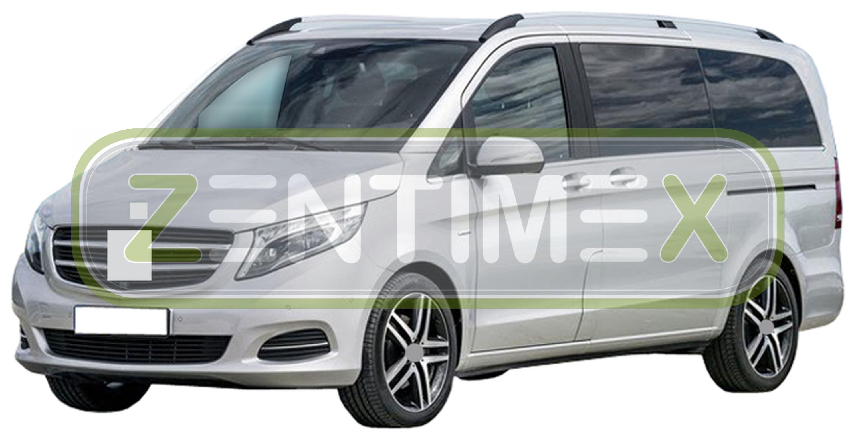 Premium-3D-TPE-Gummifußmatten für Mercedes Vito W447 Nutzfahrzeug 2014