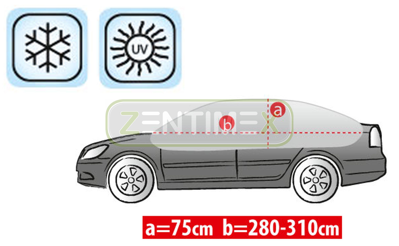 Atmungsaktive Halbgarage für  Audi 80 B4 Stufenheck Limousine 4-türer 09.91-12.9