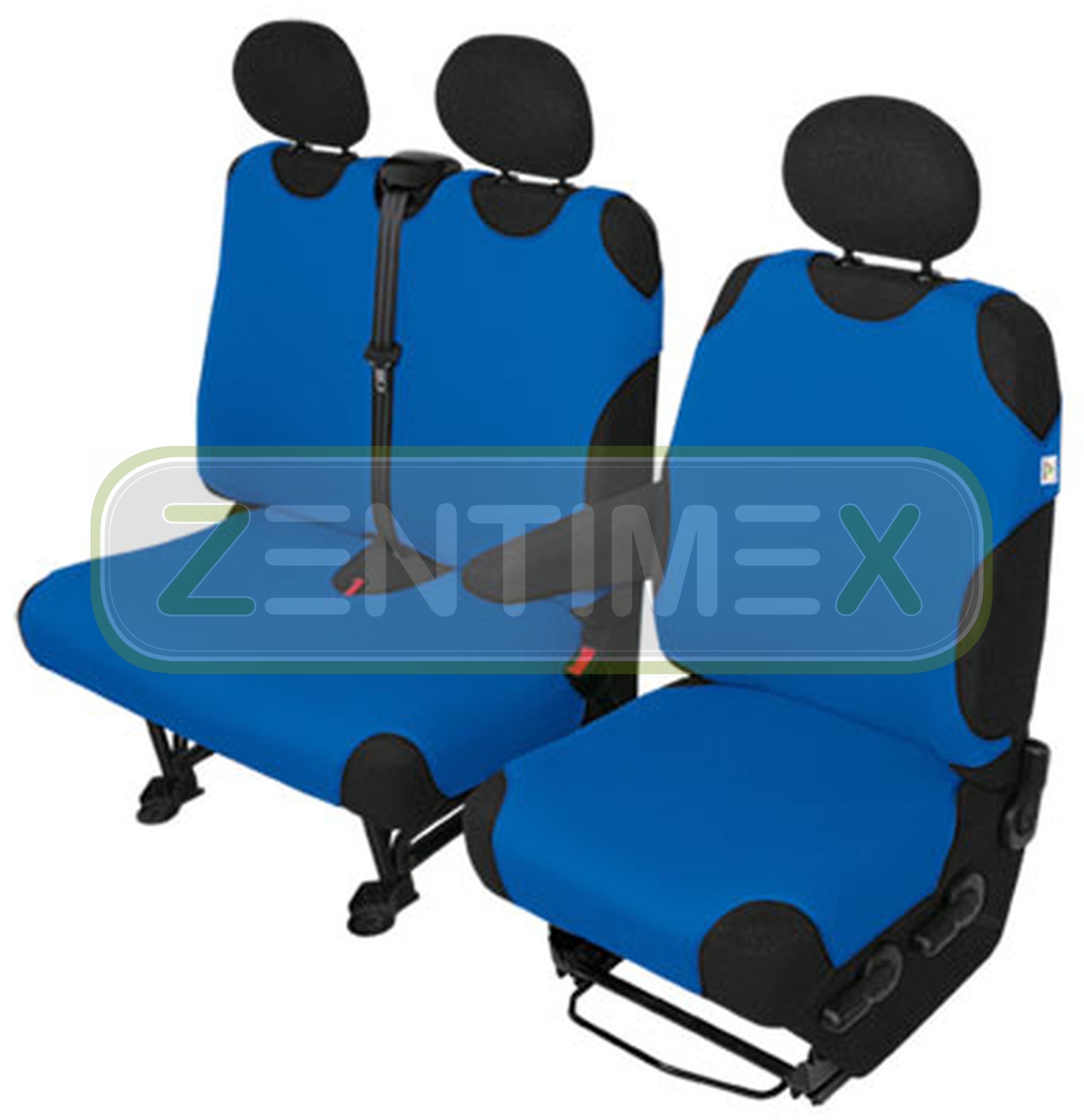 sitzbez ge schonbez ge set ka fiat ducato stoff blau ebay. Black Bedroom Furniture Sets. Home Design Ideas