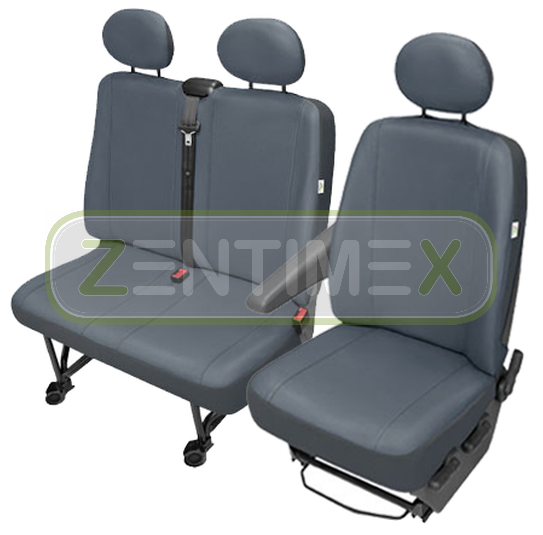 Sitzbezüge Schonbezüge SET GD VW T5 Transporter Kunstleder grau