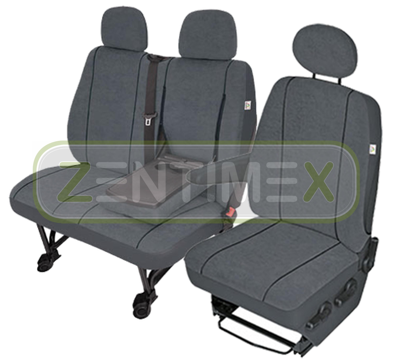 Sitzbezüge Schonbezüge SET EN Citroen Jumper Stoff dunkel grau