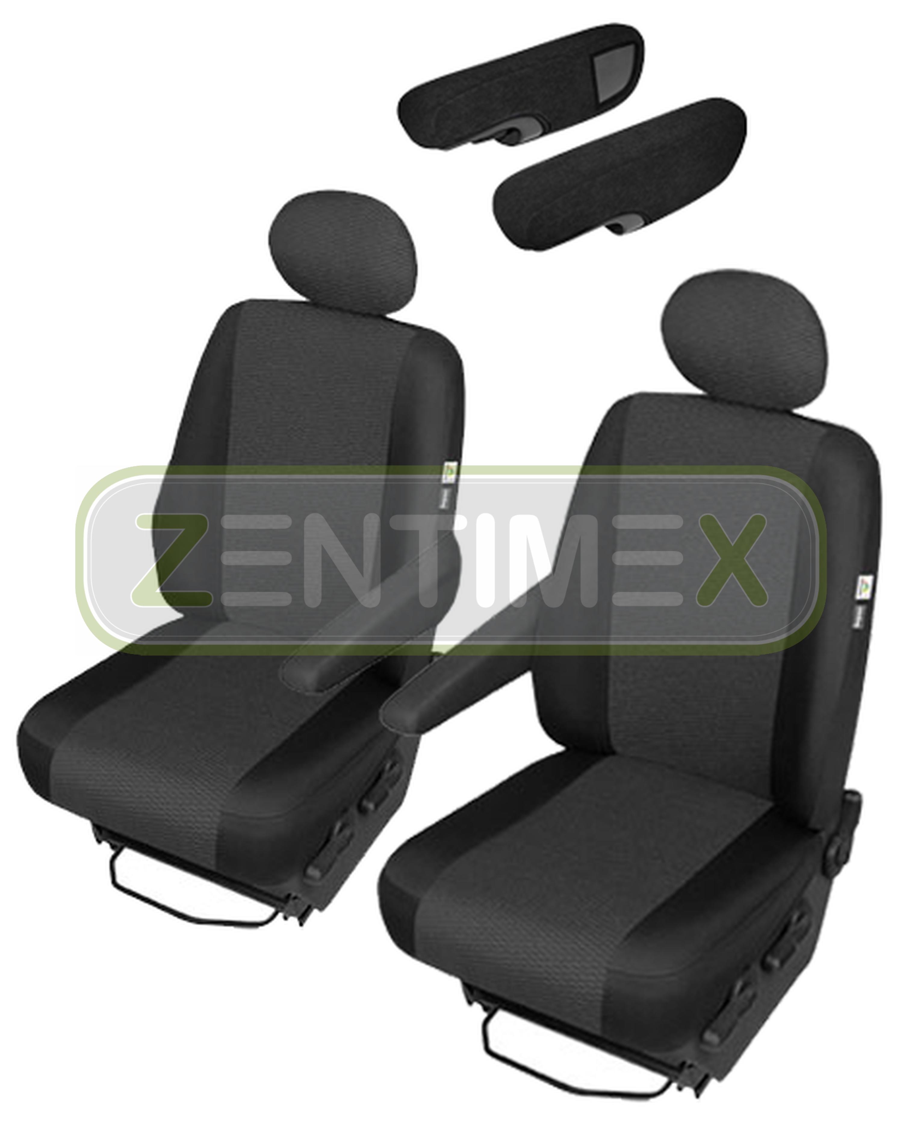 Sitzbezüge Schonbezüge SET SE Citroen Jumpy Stoff schwarz