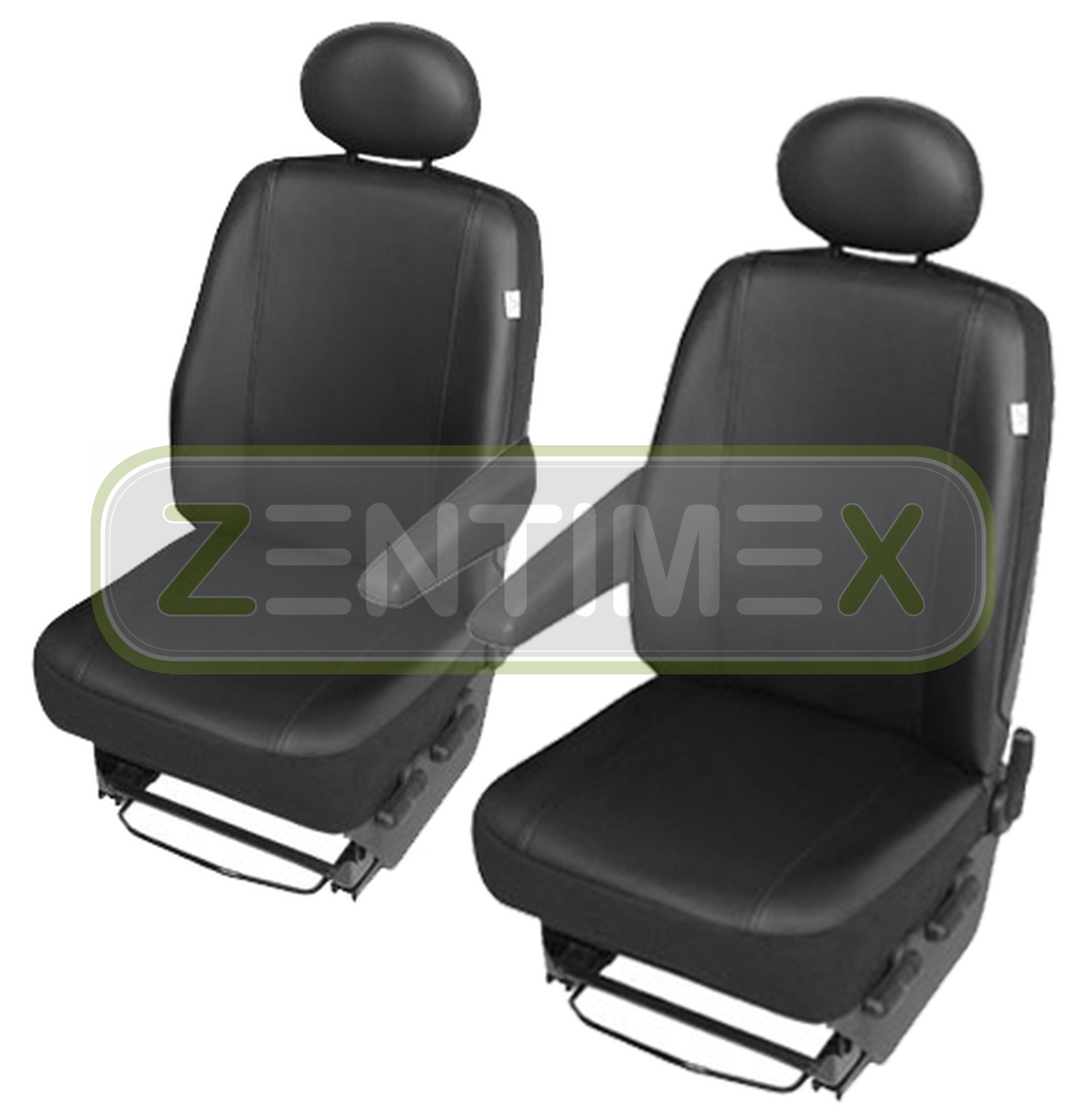Noir Set Sitzbezüge Cuir Synthétique Confort Lux Housses de protection haute qualité