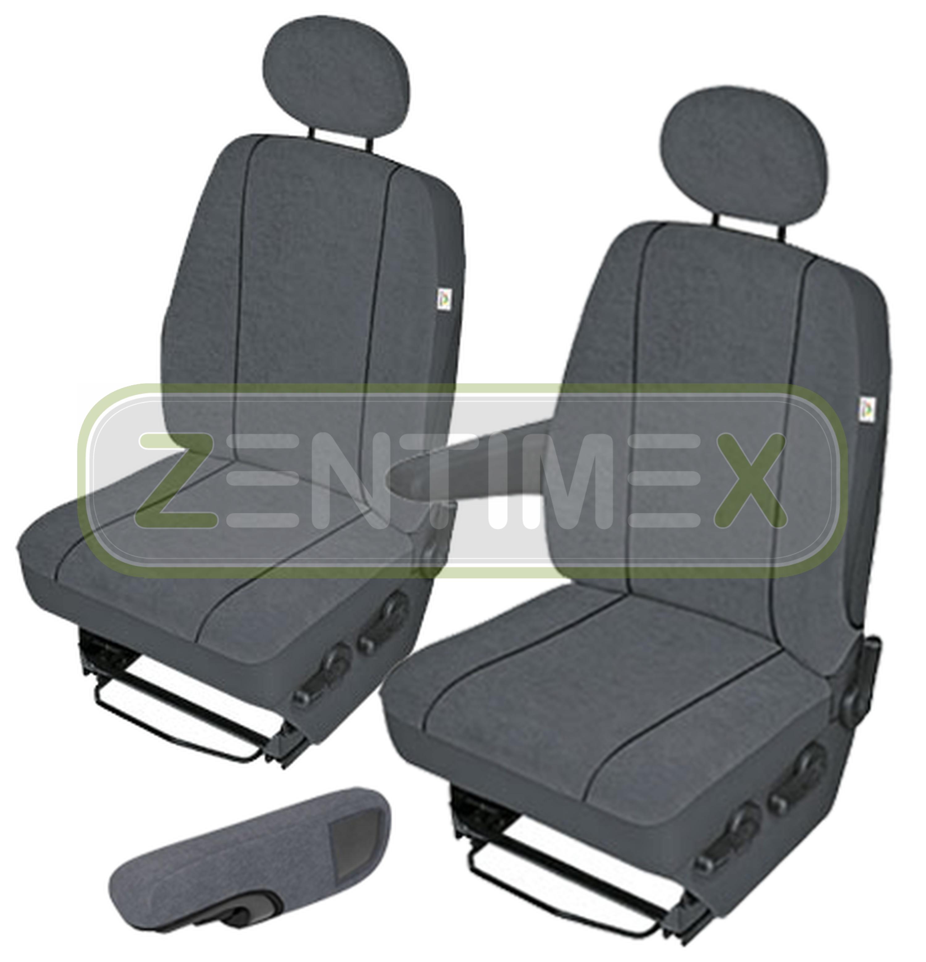 Schwarz-graue Dreiecke Sitzbezüge für NISSAN INTERSTAR  Autositzbezug SET 1+2