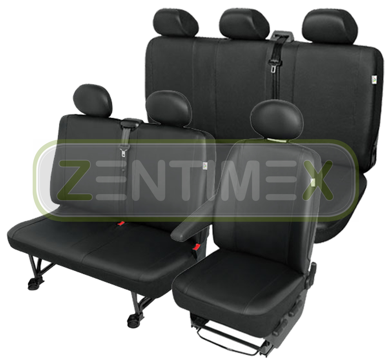 Sitzbezüge Schonbezüge SET QI VW T4 Transporter Kunstleder schwarz