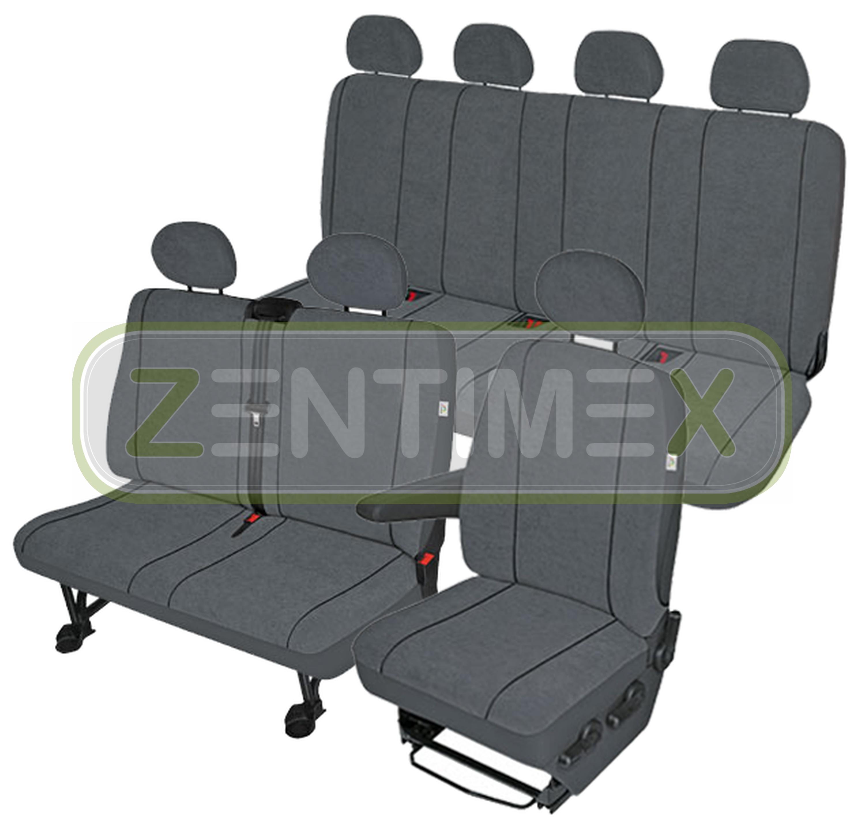Sitzbezüge Schonbezüge SET EH VW T4 Caravelle Stoff dunkel grau