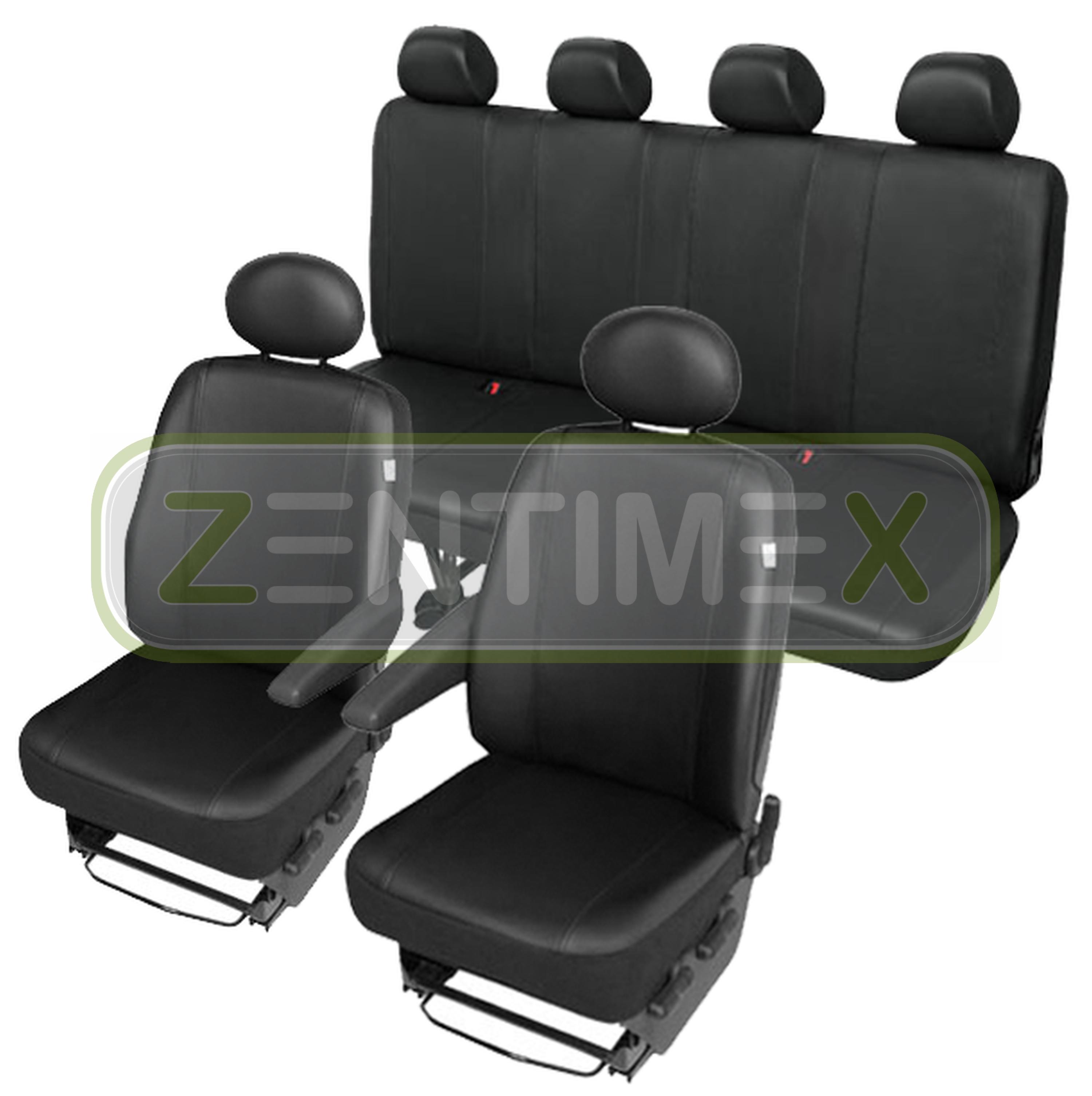 Sitzbezüge Schonbezüge SET QQ VW Crafter Kunstleder schwarz
