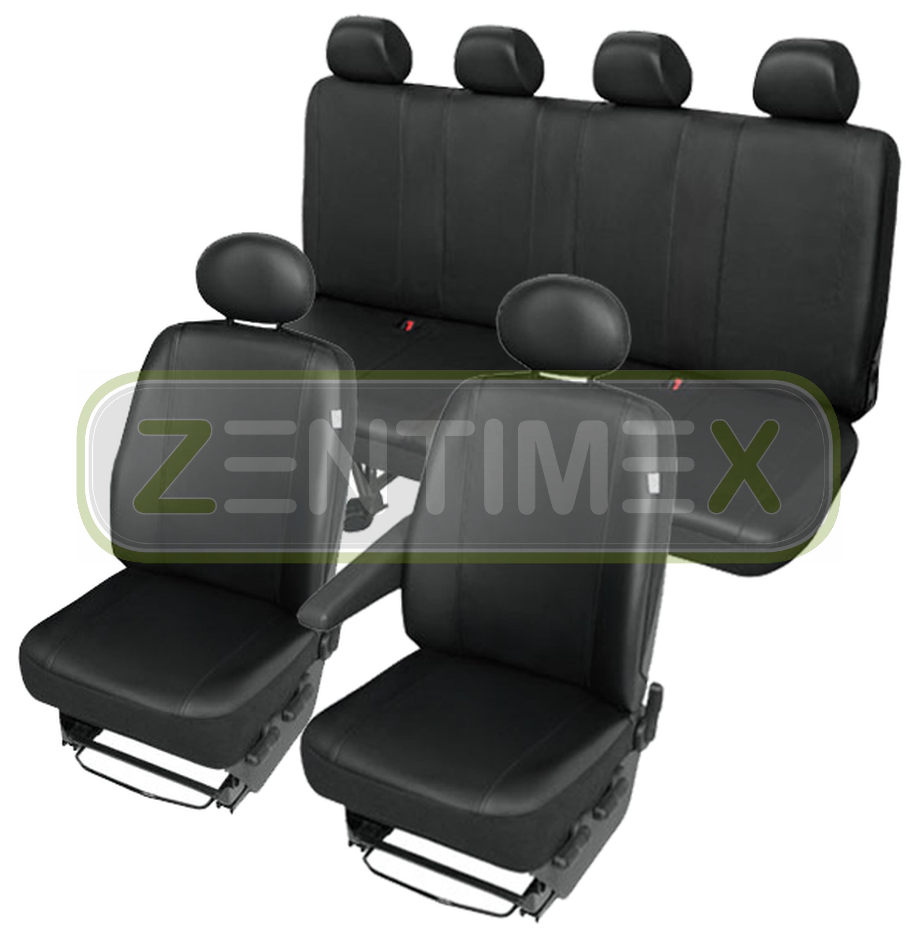 Sitzbezüge Schonbezüge SET QX Hyundai H-1 H1 Kunstleder schwarz