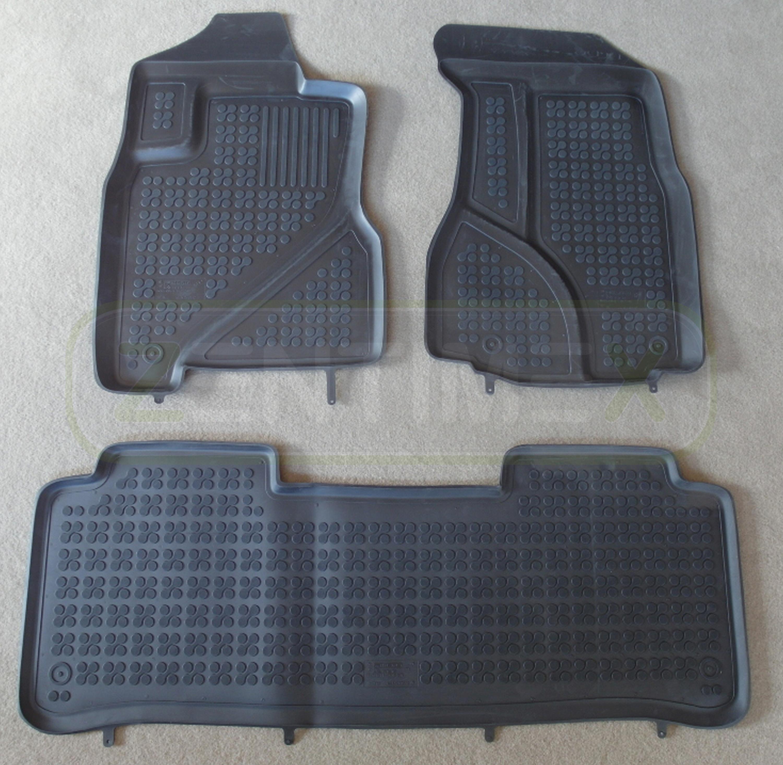 Gummifußmatten für Mitsubishi Outlander 2 Steilheck Geländewagen SUV 5-türer  42