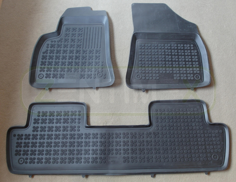 Gummifußmatten für Peugeot 5008 Van Kombi 5-türer 2009 schwarz Schalenmatten