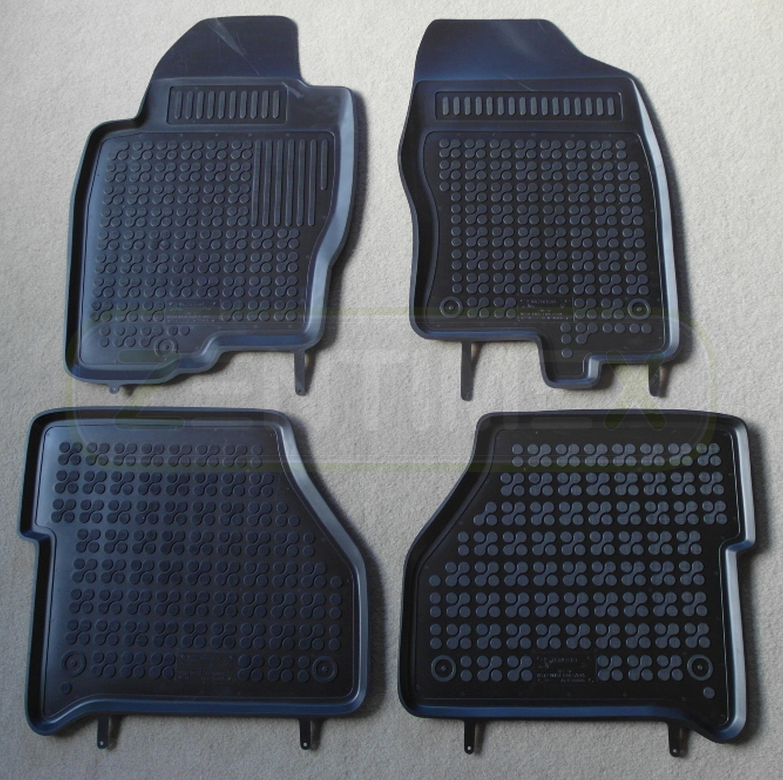 Double Cab schwarz Gummifußmatten für Nissan Navara 3 D40 Pick-Up 4-türer 2005