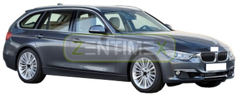 Geriffelte Kofferraumwanne für BMW 3er F31 Vor-Facelift Touring Kombi 5-türer 20