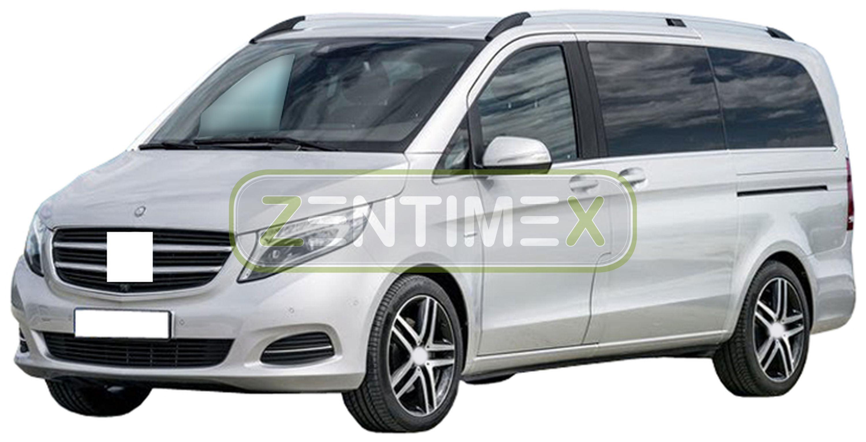 Geriffelte Kofferraumwanne für Mercedes V-Klasse Langversion Lang W447 Kombi 201