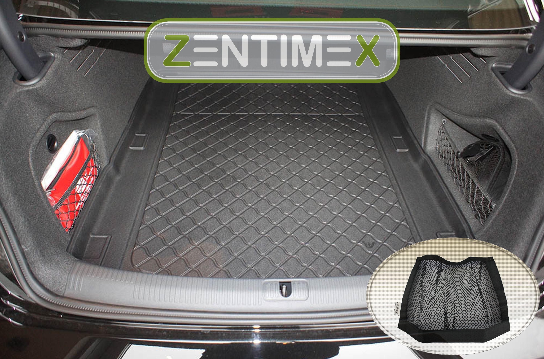 Gummierte Kofferraumwanne für Audi A4 S-Line B9 8W2 Limousine Stufenheck 4-türer