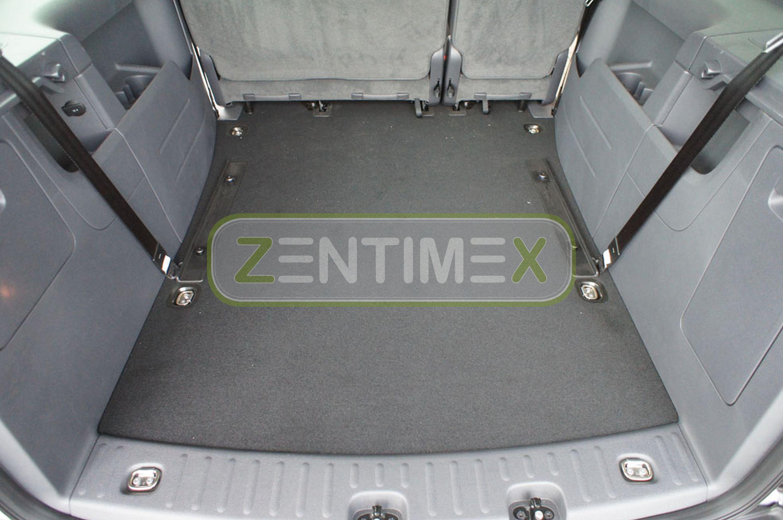 Gummierte Kofferraumwanne für VW Volkswagen Caddy Maxi 2K Facelift Hochdachkomb3