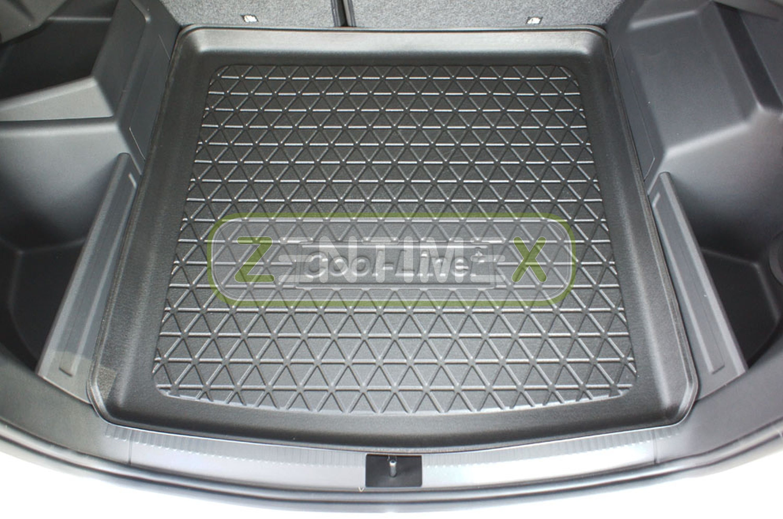 In esclusiva Tappetino vasca tappetino bagagliaio Skoda Fabia III posteriore acciaio per anno fabbricazione 2014