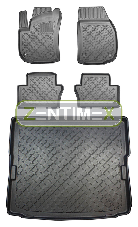 Z330724 SET Kofferraumwanne Gummifußmatten für Opel Zafira B Vor-Facelift Van Ko