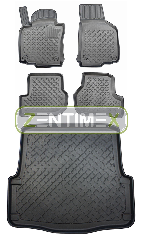 Z330895 SET Kofferraumwanne Gummifußmatten für Skoda Octavia Combi Scout 2 1Z Vo