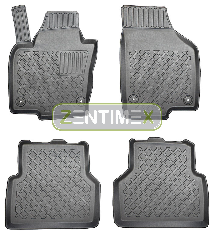 Design-3D-TPE-Gummifußmatten für VW Volkswagen Tiguan Highline 2 AD Steilheck G4