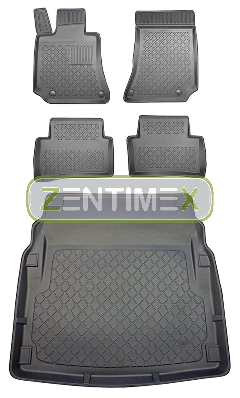 Kofferraumwanne für Mercedes E-Klasse W212 2009-2013 Set Gummimatten Fußmatten