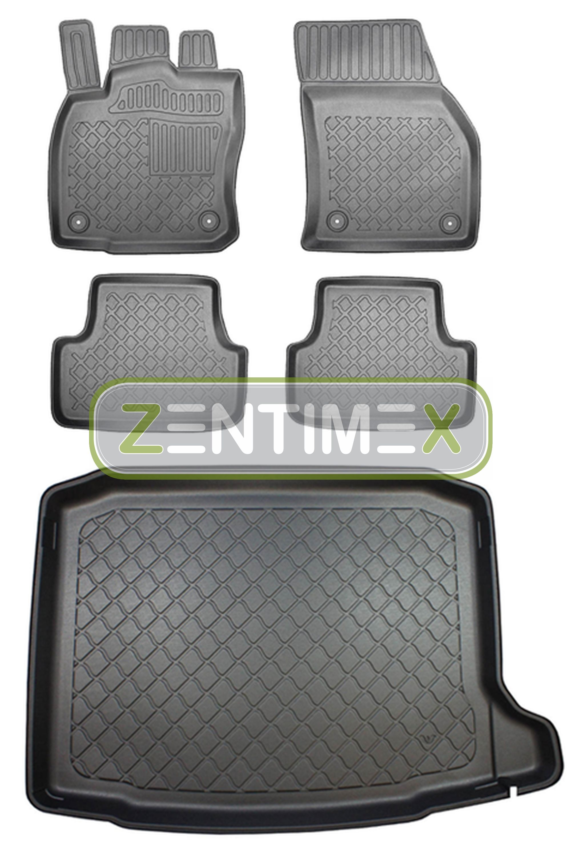Kofferraumwanne für Skoda Kodiaq Sportline Steilheck Geländewagen SUV 5-türer 16