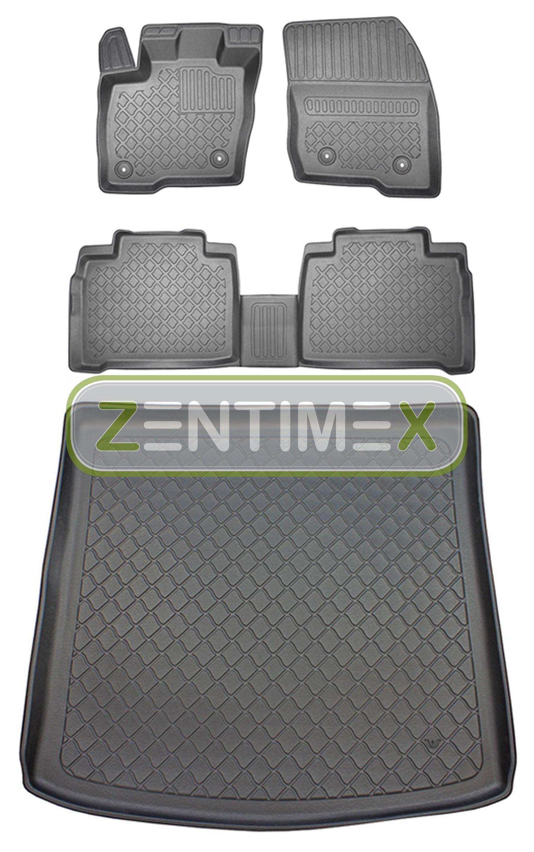 Premium-3D-TPE-Gummifußmatten für Ford Galaxy Trend 3 Van Kombi 5-türer 2015-20