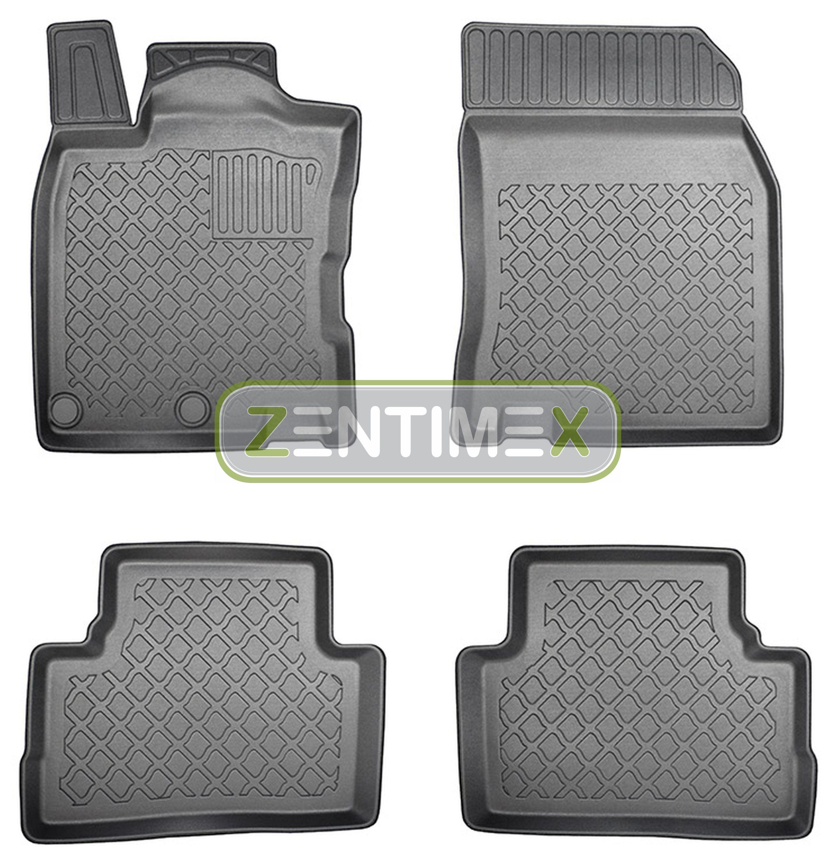 Z330552 SET Kofferraumwanne Gummifußmatten für Nissan Qashqai N-Connecta 2 J11 S
