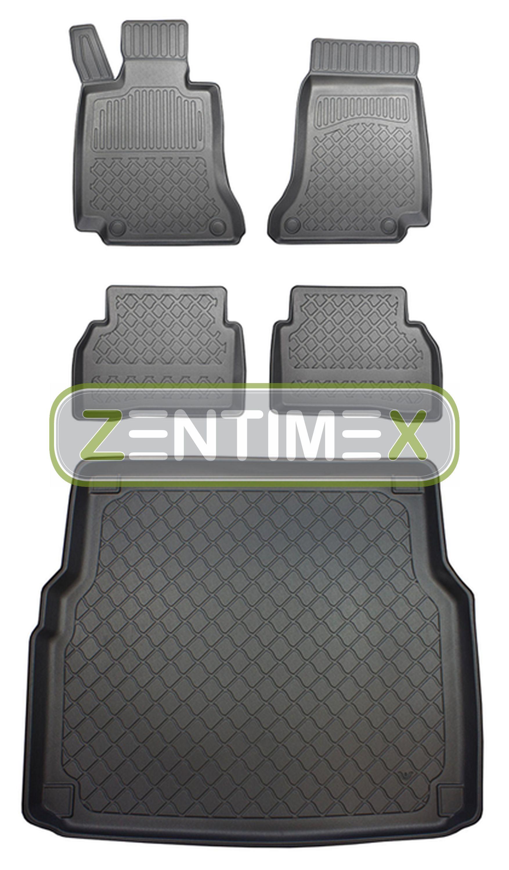 Design-3D-TPE-Gummifußmatten für Mercedes C-Klasse S205 W205 T-Modell Kombi 5-1B