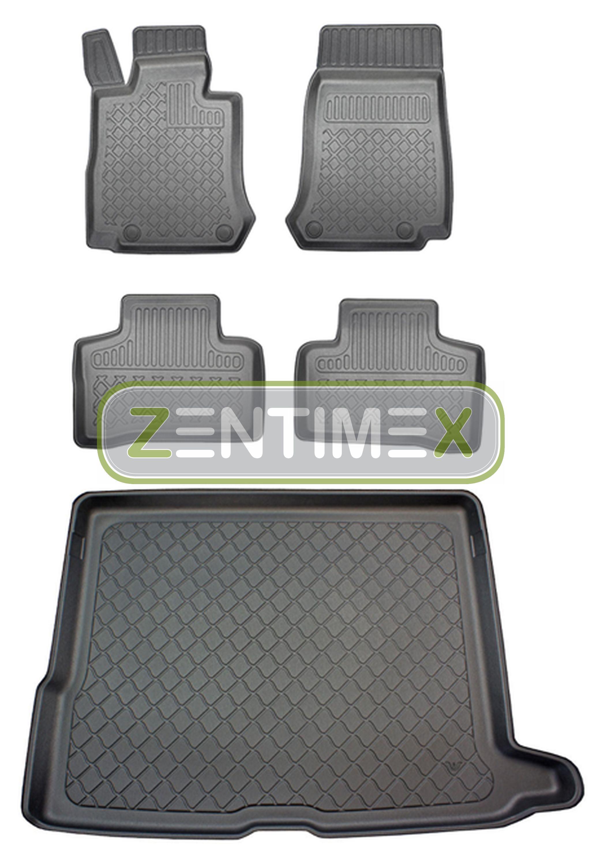 Z330379 SET Kofferraumwanne Gummifußmatten für Kia Sportage Spirit 4 QL Steilhec