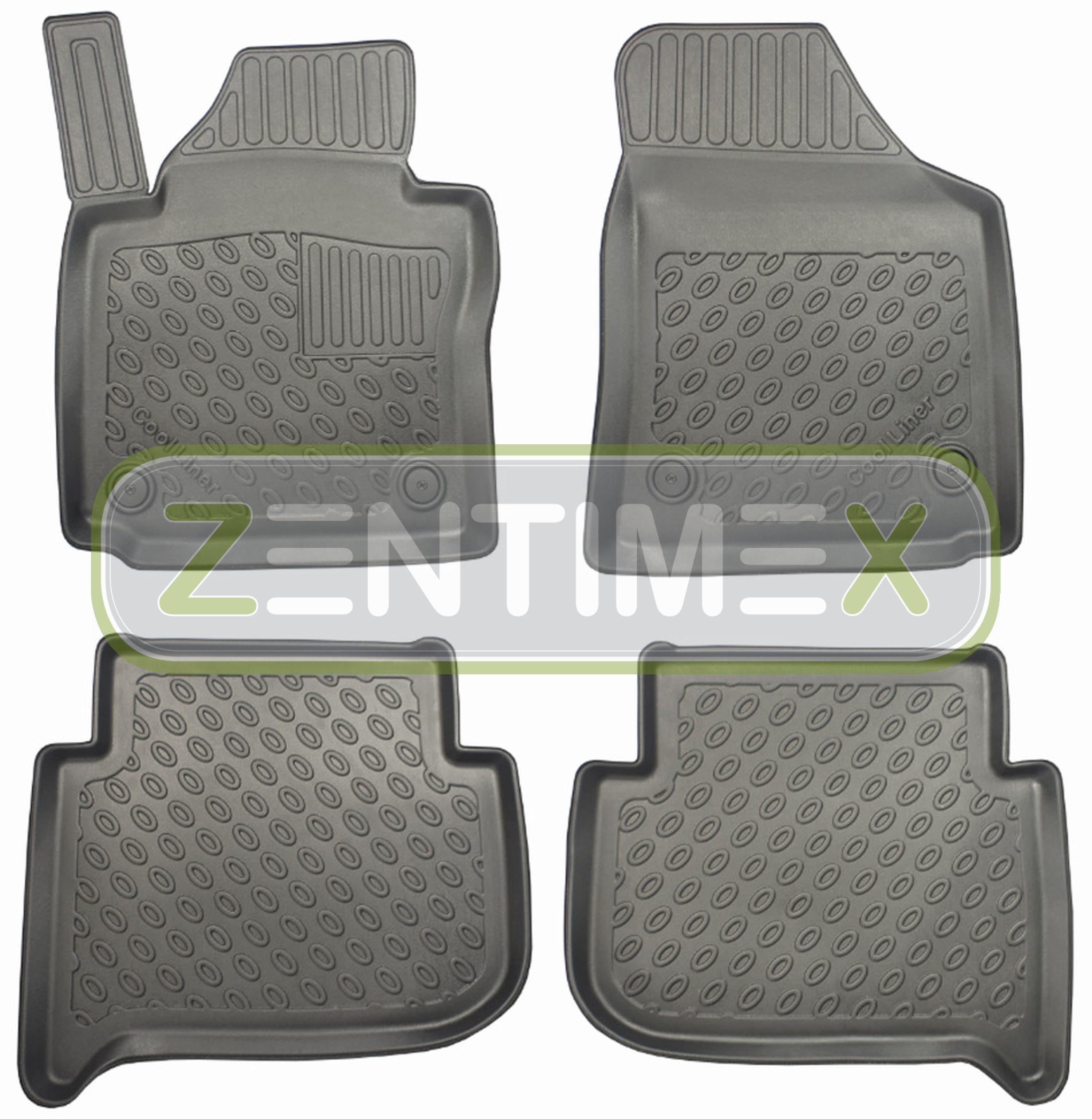 Premium-3D-TPE-Gummifußmatten für VW Volkswagen Caddy Maxi 2K Vor-Facelift Hoch5