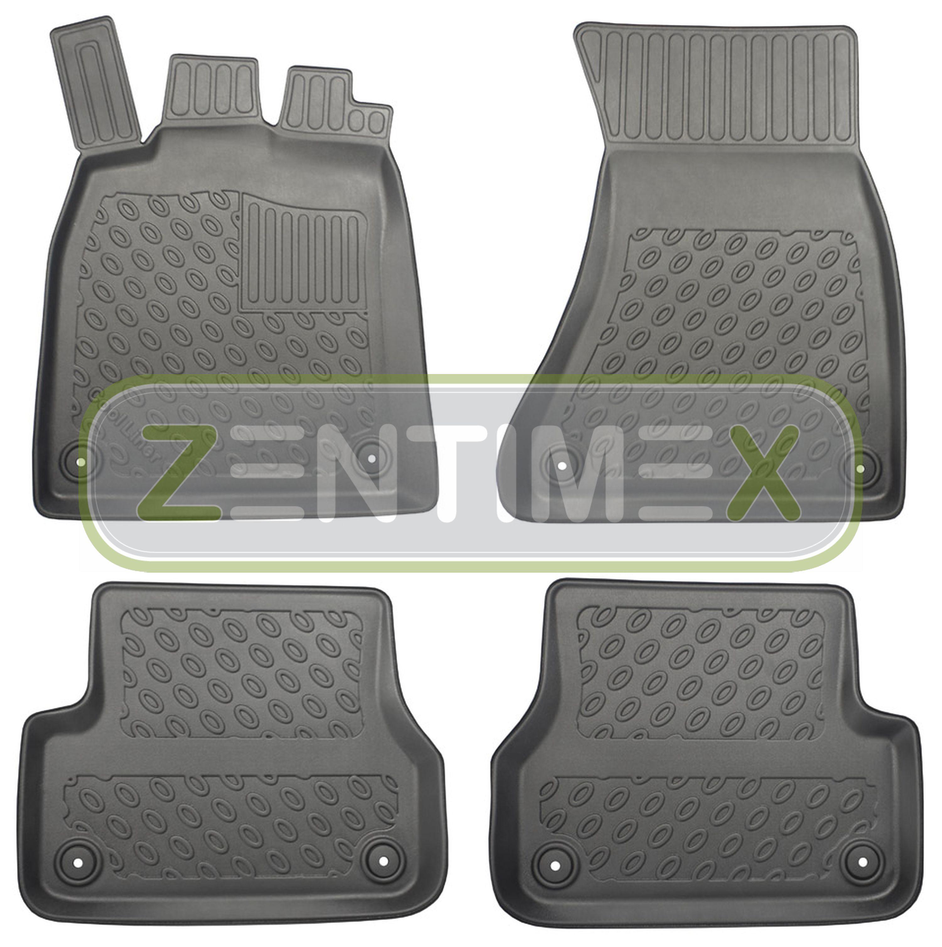 premium-3d-tpe-gummifußmatten für audi a6 c7 4g facelift avant kombi