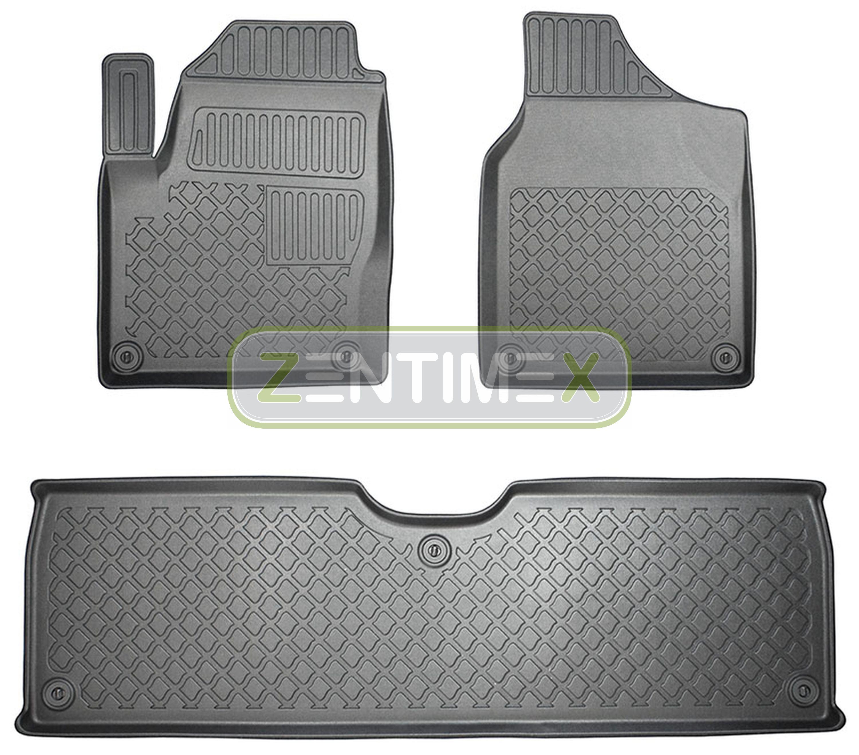 Cordiale Tappetini In Gomma / Tpe 3d Design Per Vw Volkswagen Sharan 1 7m Pre-facelift 20 Crease-Resistenza