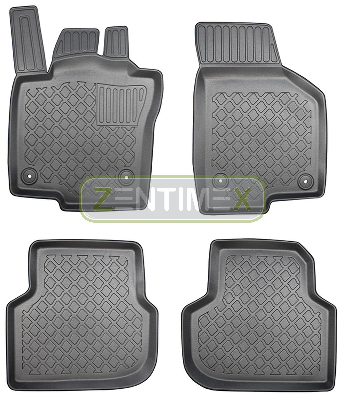 Tappetini In Gomma / Tpe 3d Design Per Vw Volkswagen Jetta Ncs A6 1b Facelift 25 Può Essere Ripetutamente Ripetuto.