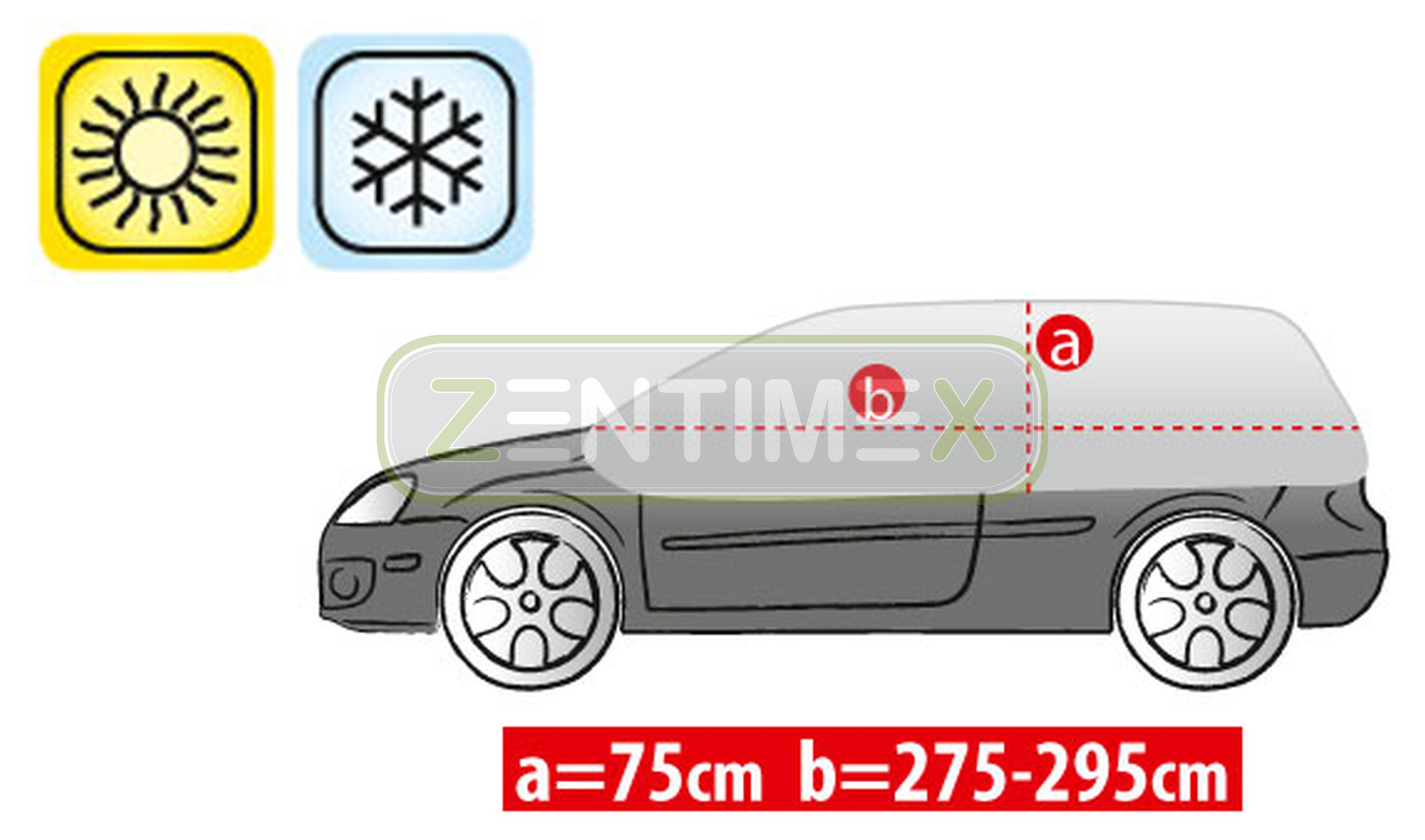 Steilheck Hatchback 3-t Atmungsaktive Halbgarage für  VW Volkswagen Up high up